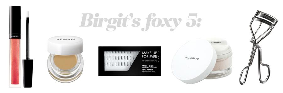 Birgit's foxy 5