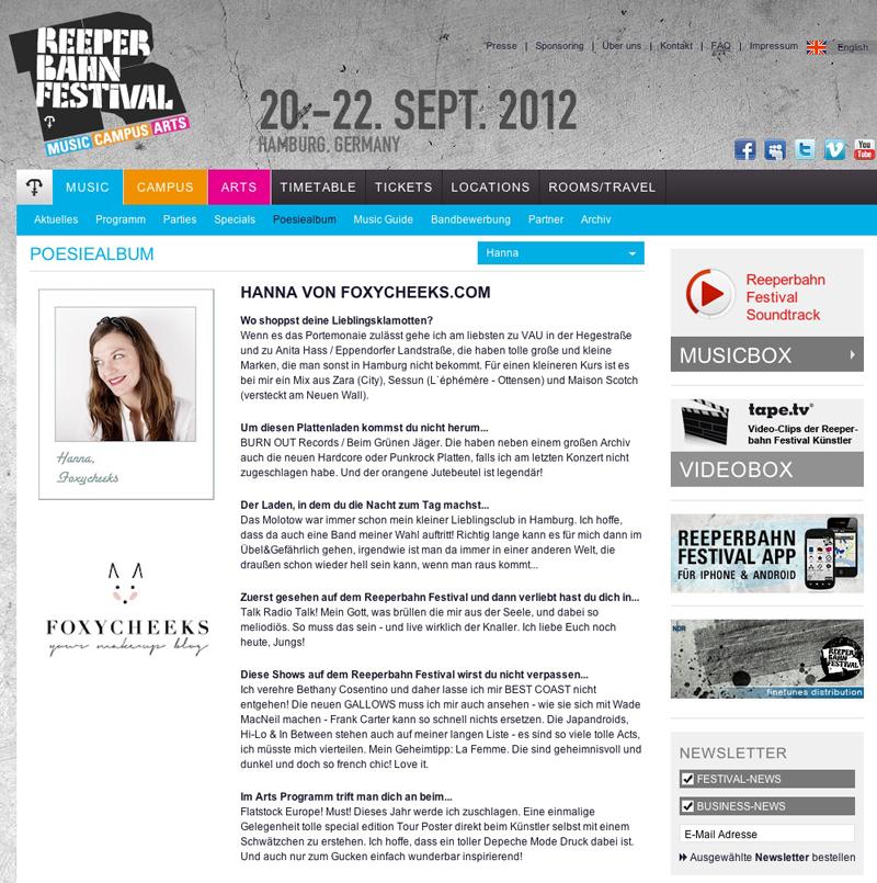 Reeperbahnfestival Interview Poesiealbum