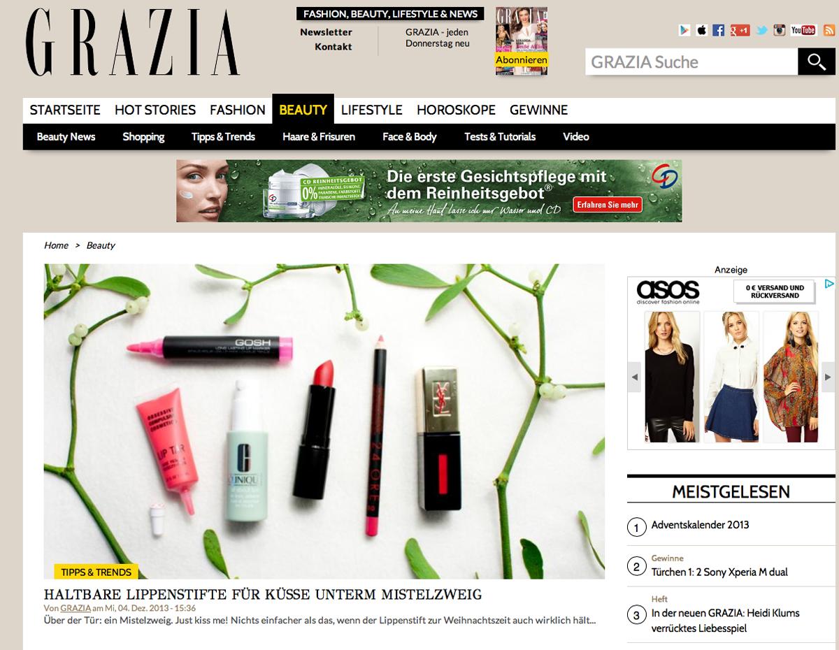 Grazia Online / Hanna Schumi Autor / Foxycheeks