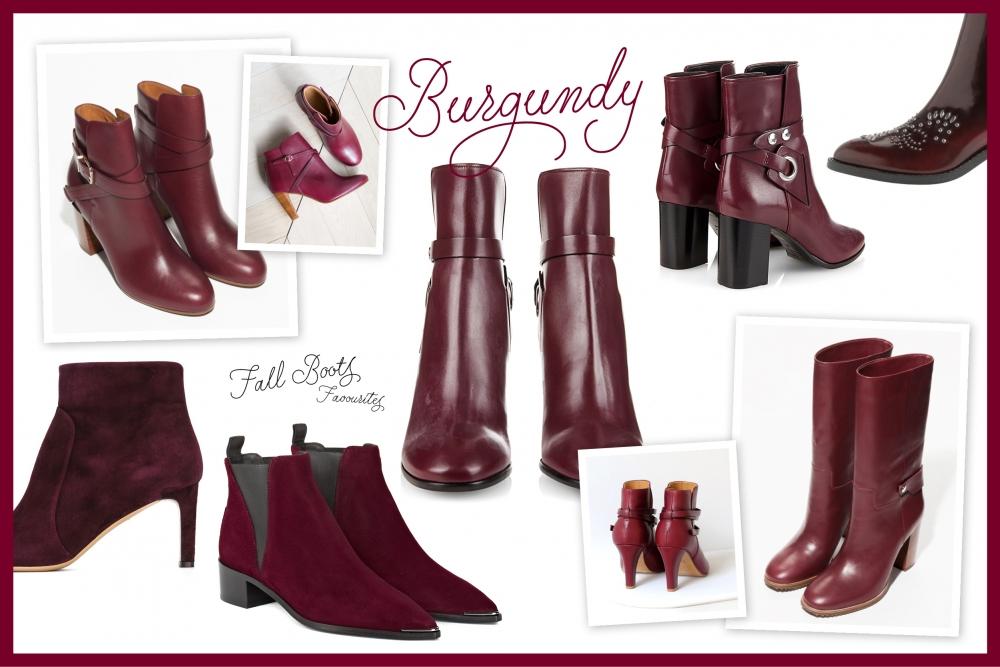 Burgundy Boots Fall Autumn 2015