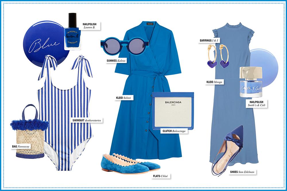 Blau Blue Fashion Inspiration / Foxycheeks Hanna Schumi