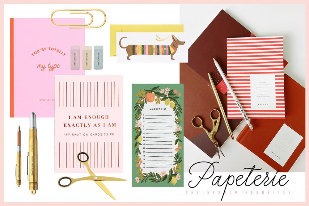 Papeterie Onlineshops / Beautyblog Hanna Schumi