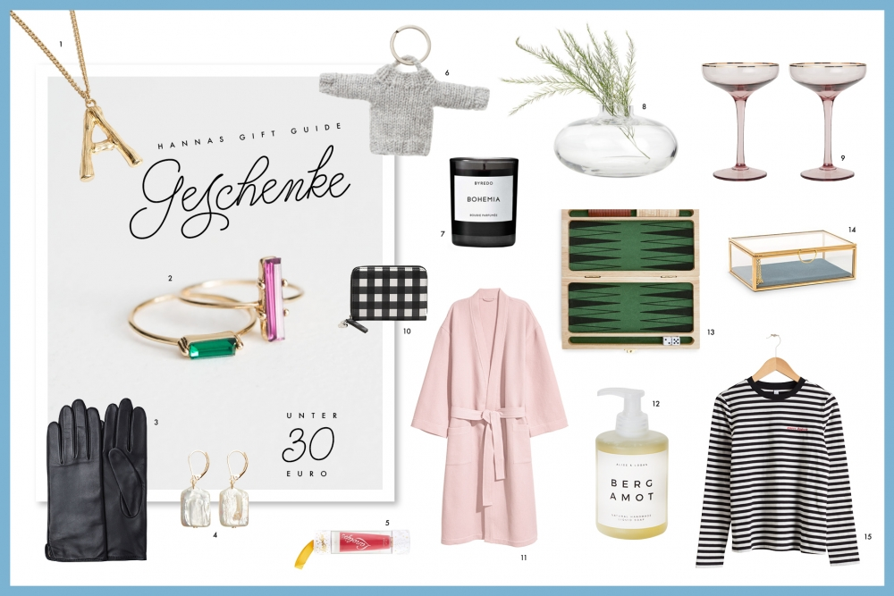 Gift Guide unter 30 Euro