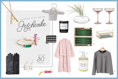 Gift Guide: Geschenke unter 30 Euro