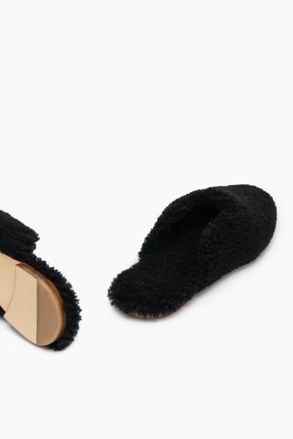 SA003S _Sleeper_Black Shearling Slippers_390 USD (2)