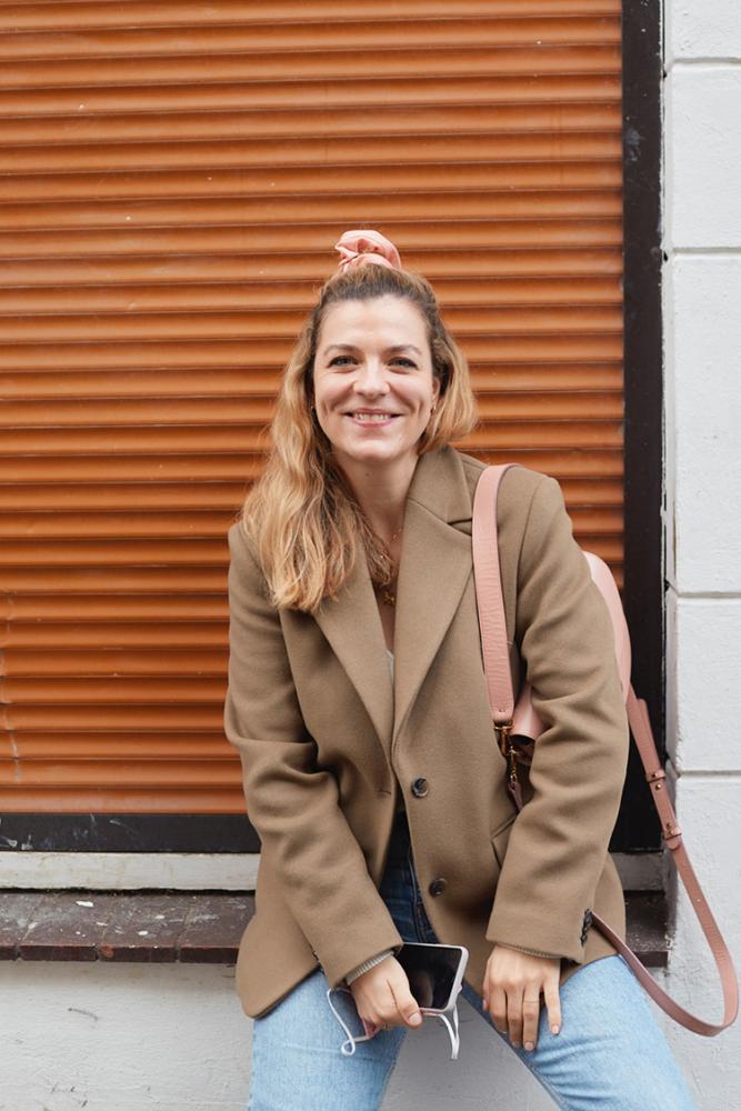 Hanna Schumi Outfit Herbst Blazer Jeans