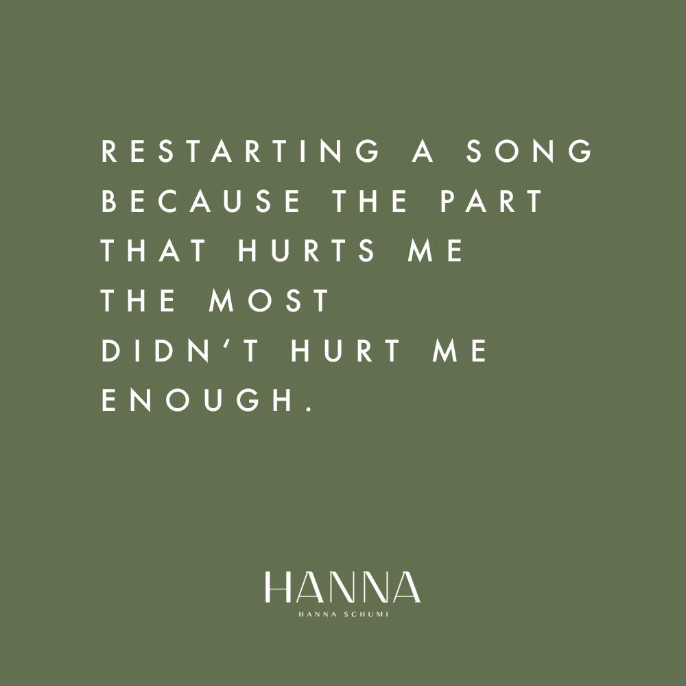 Sad Songs Playlist Hanna Schumi