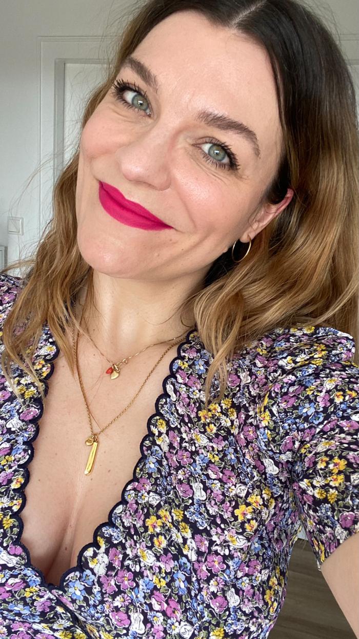 Hanna Schumi Laura Mercier Lipstick IT GIRL Reels Video Makeu-up